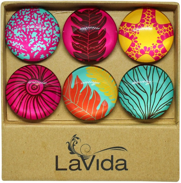 LaVida: Glass Magnets - Pop Reef (Set of 6)