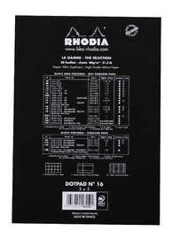 Bloc Rhodia Dot Pad A5 Matrix Dots (Black) image