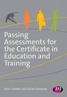 Passing Assessments for the Certificate in Education and Training by Ann Gravells image