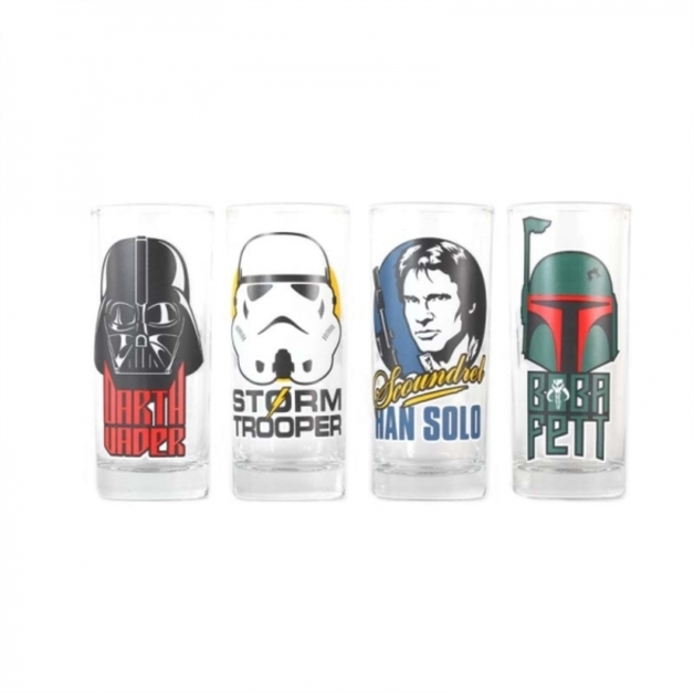 Star Wars: Character Glasses - Set of 4