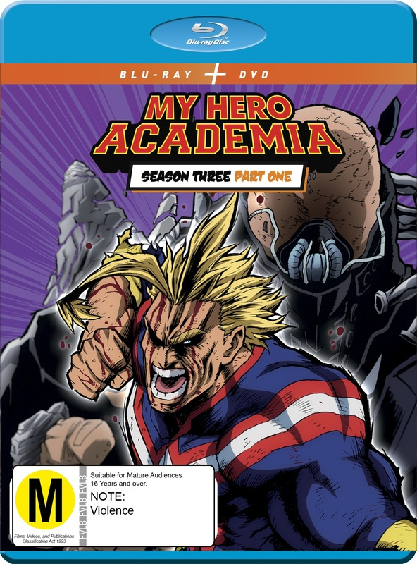 My Hero Academia - Season 3: Part 1 Blu-ray & DVD Combo on DVD, Blu-ray