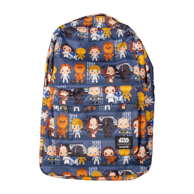 Loungefly: Star Wars - Death Star Chibi Print Backpack