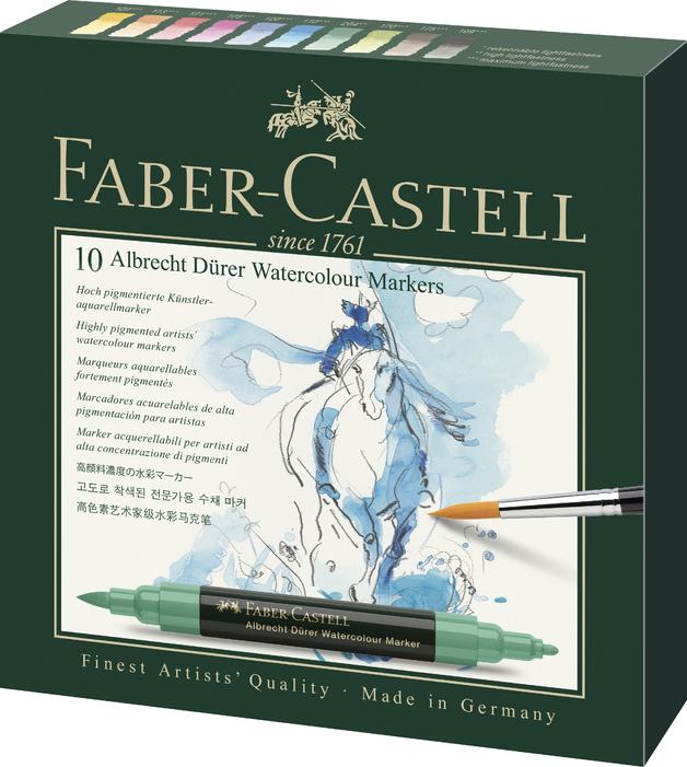 Faber-Castell: Albrecht Durer Watercolour Markers - Wallet of 10