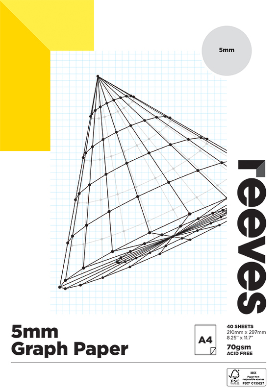 Reeves: Graph Pad - A4 (5MM, 70GSM, 40 Sheets)
