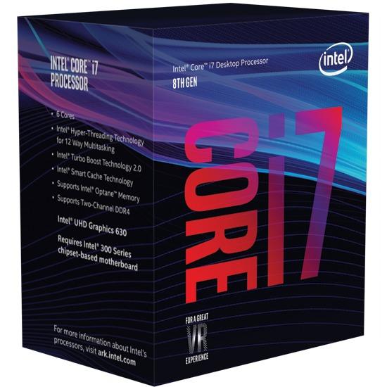Intel Coffee Lake Core i7 8700K Unlocked 6-Core CPU image
