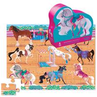 Crocodile Creek: 36-Piece Shaped Box Puzzle - Horse Dreams image