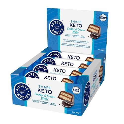 Aussie Bodies: Keto - Cookies & Cream Wafer (12 x 35g)