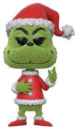 Dr Seuss: Santa Grinch (Flocked) - Pop! Vinyl Figure