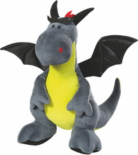 Nici: Sitting Dragon - Grey & Green (45cm)