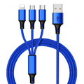 3-in-1 Charging Cable - Blue (1.2m)