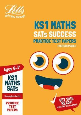 KS1 Maths SATs Practice Test Papers (photocopiable edition) by Letts KS1 image