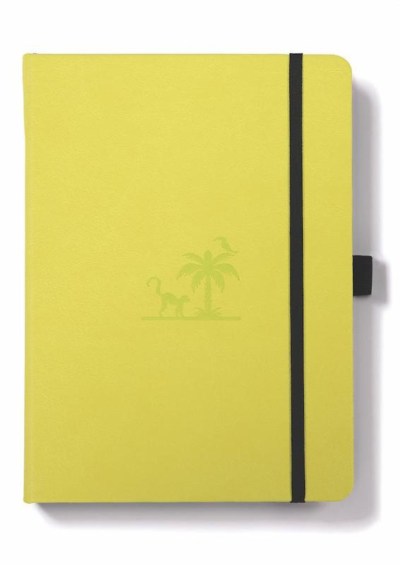 Dingbats Earth: A5 Lime Yasuni Notebook - Dotted