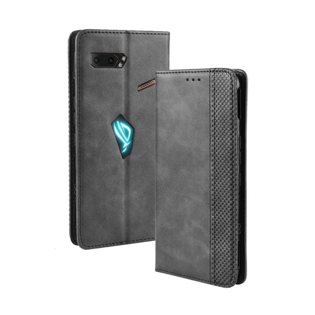 Ape Basics: Asus ROG Phone II Leather FlipCase - Black