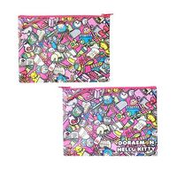 Flat Pouch: Doraemon x Hello Kitty
