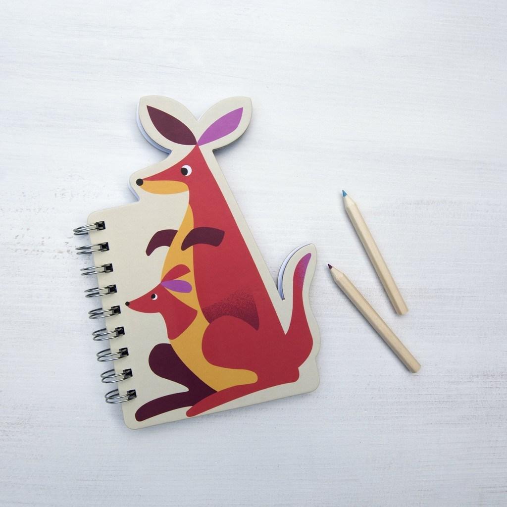 Colourful Creatures Spiral Notebook - Kangaroo image