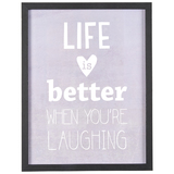 Transomnia: 'Life is better when you're laughing' Sign