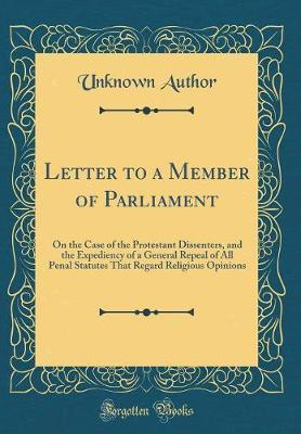 Letter to a Member of Parliament by Unknown Author image