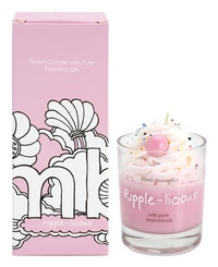 Bomb Cosmetics Piped Candle - Ripple-licious