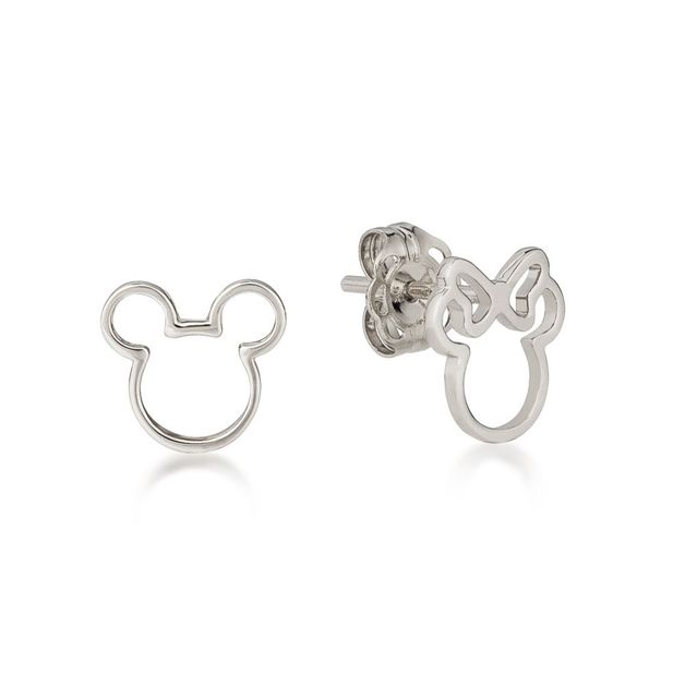 Couture Kingdom: Mickey & Minnie Mix-Match Outline Stud Earrings