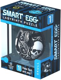 Smart Egg: 1-Layer Labyrinth Game - Skull