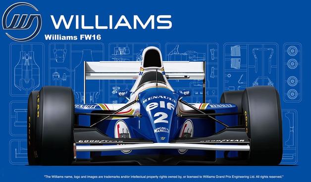 Fujimi: 1/20 Williams Renault FW16 San Marino GP 1994 - Model Kit