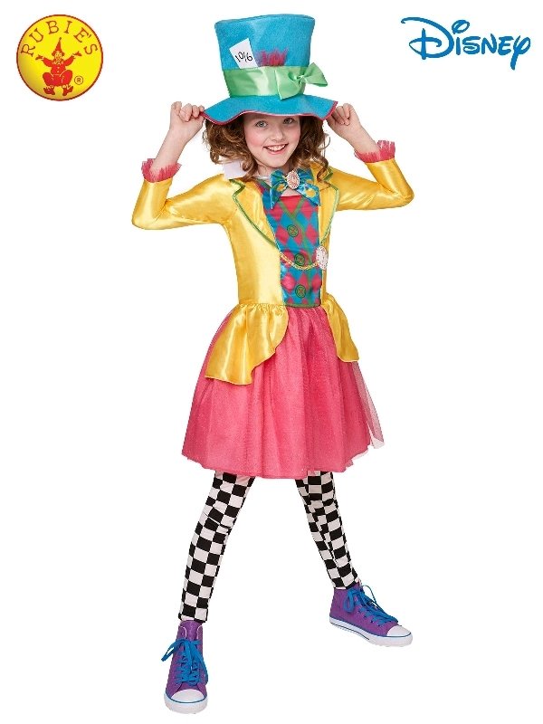 Mad Hatter Girls Deluxe Costume - Size 11-12