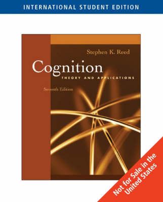 Cognition: Theory and Applications by Stephen Reed