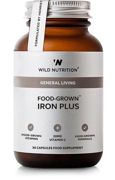 Wild Nutrition Food Grown Iron Plus (30 Caps)
