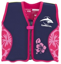 Konfidence Original Buoyancy Jacket (Navy/Pink Hibiscus) (1.5-3 Years)