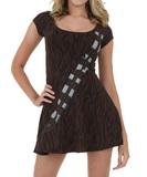 Star Wars Chewbacca Slim Skater Dress (XX-Large)