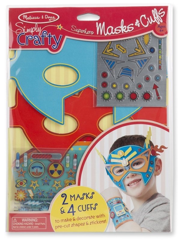 Melissa & Doug: Simply Crafty Superhero Masks and Cuffs