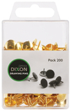 Dixon Drawing Pins Brass No.3 Pack 200