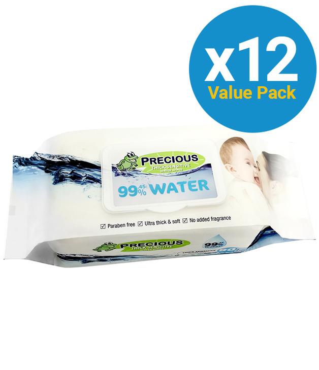 Precious - Water Wipes (80 Wipes, Carton 12)