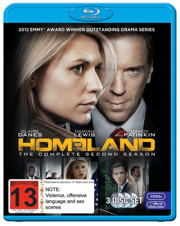 Homeland - The Complete 2nd Season on Blu-ray