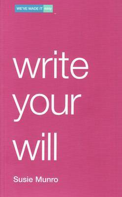 Write Your Will by Susie Munro image