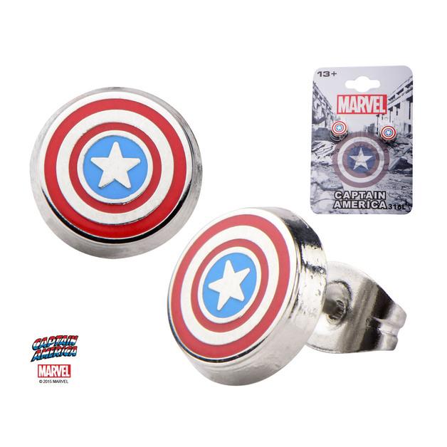 Marvel: Captain America Round Stud Earrings