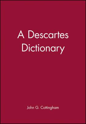 A Descartes Dictionary by John Cottingham image