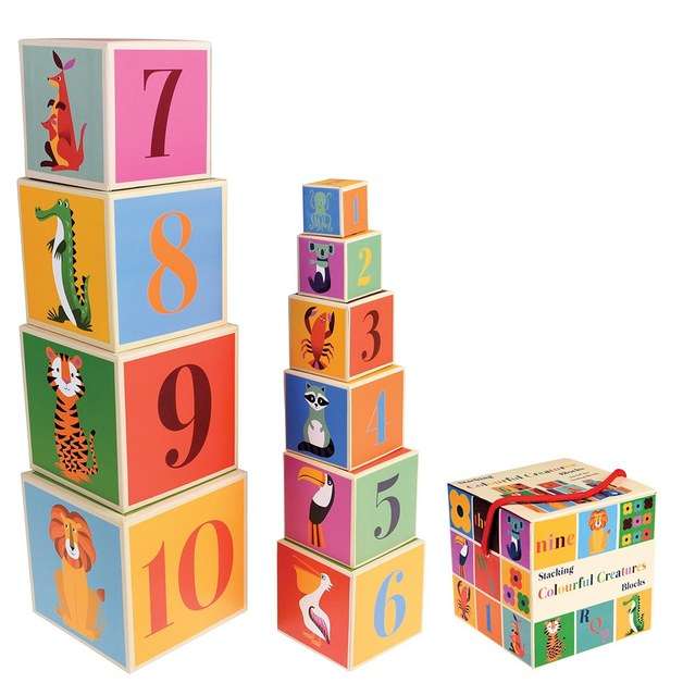 Colourful Creatures Stacking Blocks (Set of 10)