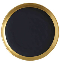 Maxwell & Williams Swank Plate Round 16cm (Black/Gold)