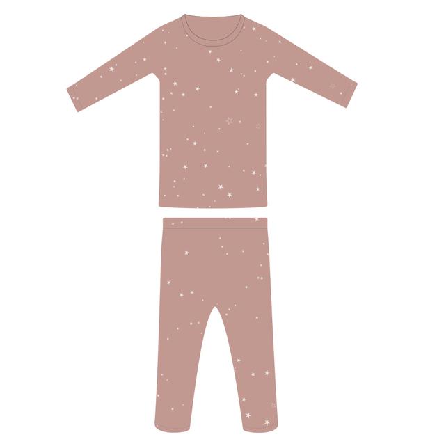 Woolbabe: Merino/Organic Cotton Pyjamas Dusk Stars - 3 Years