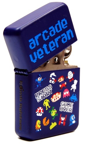 Arcade Veteran Windproof Lighter - Matte Blue
