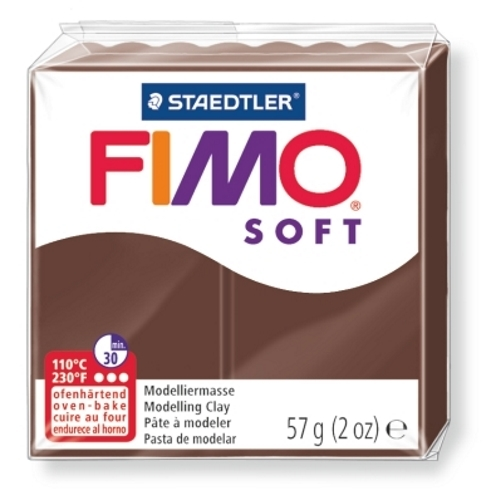 Staedtler Fimo Soft Modelling Clay Block - Chocolate (56g) image