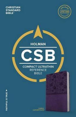 CSB Compact Ultrathin Bible, Purple LeatherTouch by Csb Bibles by Holman