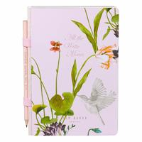 Ted Baker: A5 Notebook & Pencil - Oriental Blossom