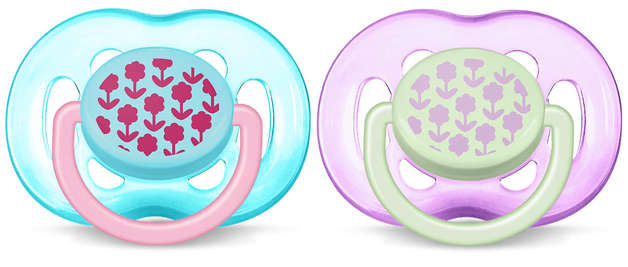 Philips Avent 6m+ Fashion Soother - Pink (2 Pack)
