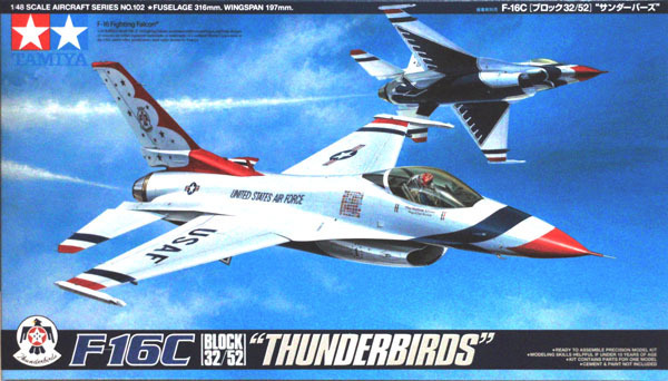 Tamiya U.S. F-16C Thunderbirds 1/48 Aircraft Model Kit