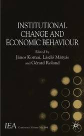 Institutional Change and Economic Behaviour image