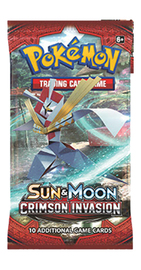 Pokemon TCG Crimson Invasion Single Booster (10 Cards)