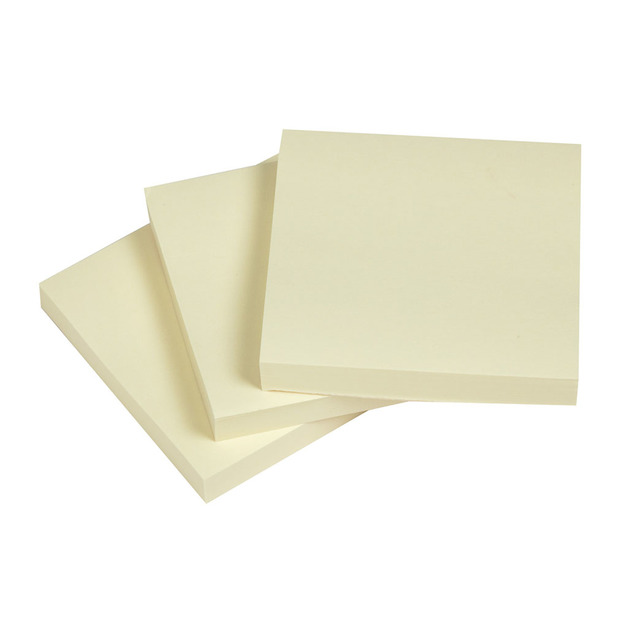 NoteFix: Self-Stick Notes - Yellow 76x76mm