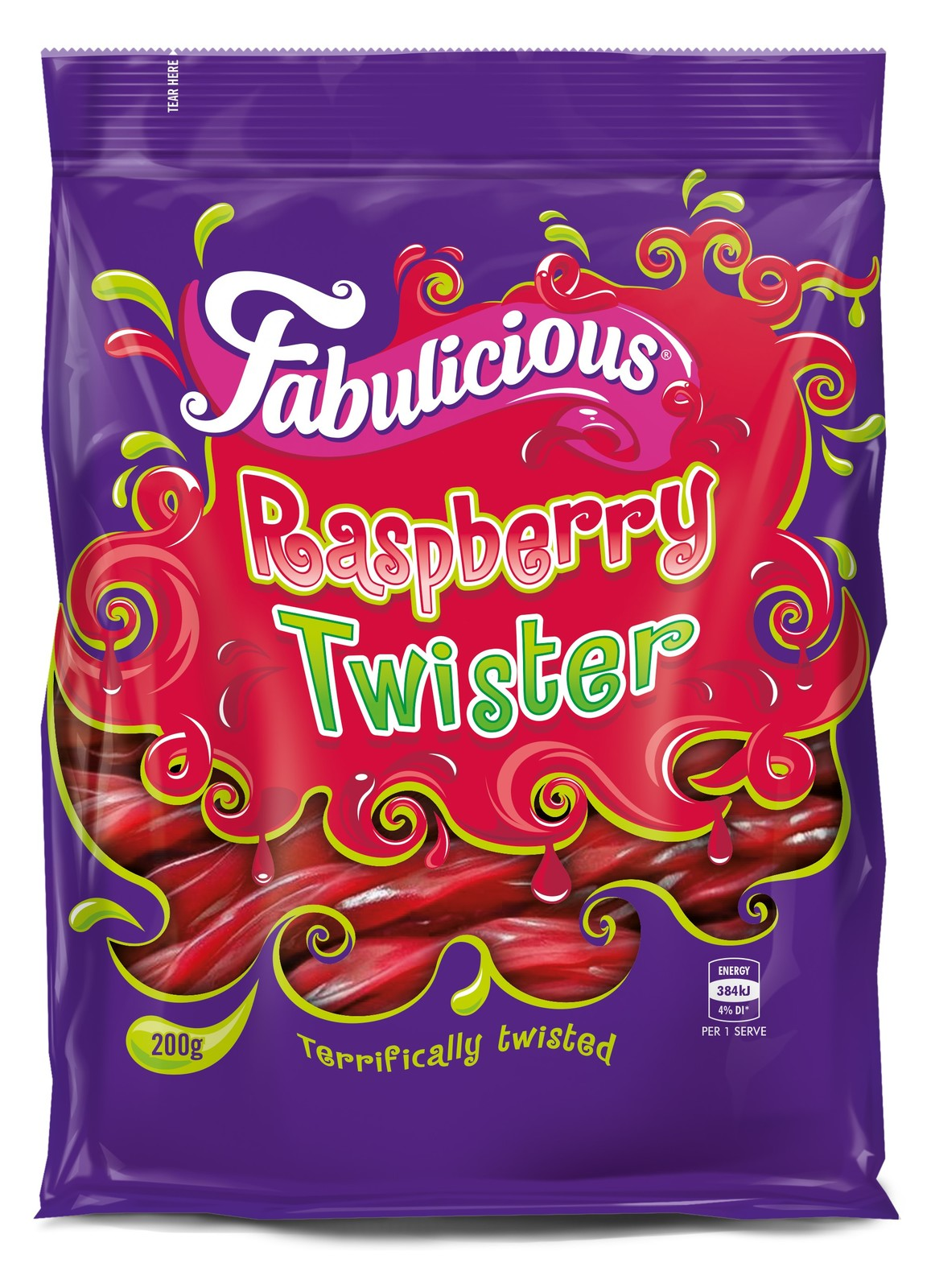 RJs Fabulicious Raspberry Twister (200g) image